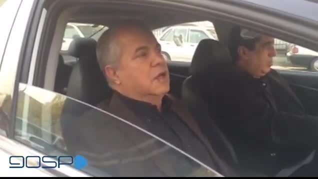 صحبت های جالب علی پروین جلوی زندان اوین
