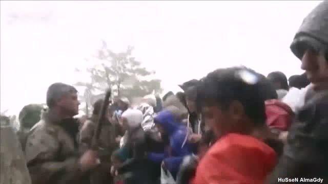 ضرب و شتم پناهندگان توسط پلیس مقدونیه