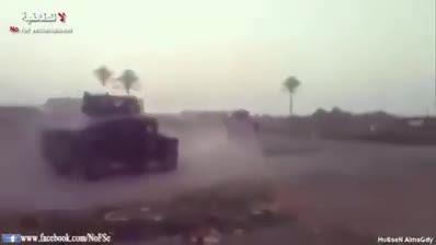 درگیری سنگین خودروهای زرهی گردان های امام علی با داعش