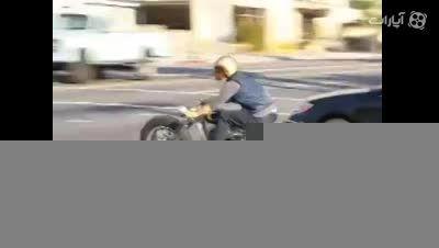 موتور سواری بردپیت قبل از تصادف