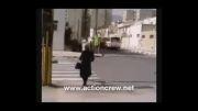 تصادف ایرانمنش با مینی بوس، اولین زن بدلکار ایرانی -فیلم بیداری