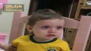 گریه کودک برزیلی بخاطر مصدومیت نیمار