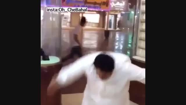 زمین خوردن مرد عرب