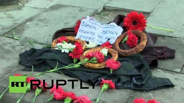 یادبود قربانیان انفجار بمب در آنکارا