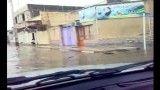 سیل در آبادان(تبدیل خیابانها به رودخانه!!!)