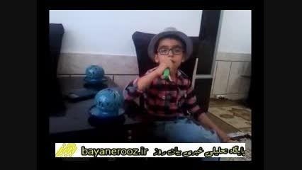 خط ونشان نونهال ۶ساله پلدختری برای اسرائیل