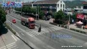 تصادف کامیون با موتور سیکلت و کشته شدن موتور سوار