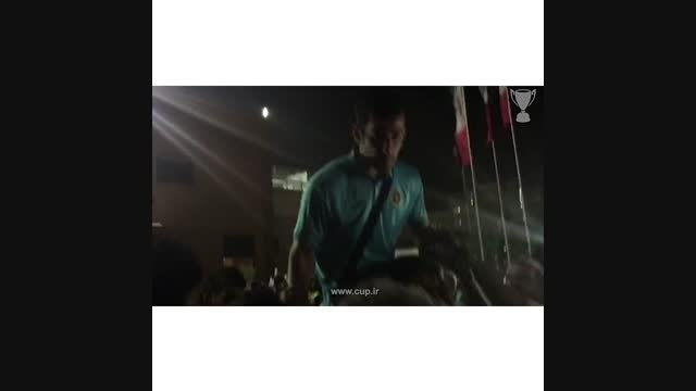 وداع هواداران سپاهان با احسان حاج صفی