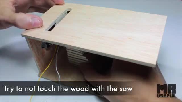 درست کردن دستگاه برش چوب! با لوازم ساده!