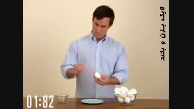 بهترین روش پوست کندن تخم مرغ