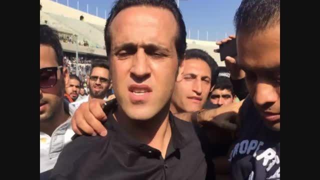 تصاویر مراسم تشییع پیکر هادی نوروزی در استادیوم آزادی