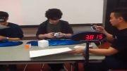 رکورد 27.36 چشم بسته روبیک از Noah Arthurs (رکورد آمریکا)