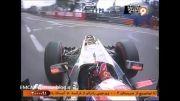 تصادف جالب خودروی فرمول 1 !!!