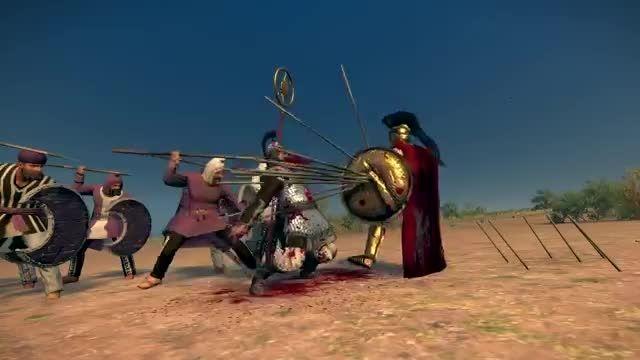 یک سرباز رومی در برابر 40 سرباز ایرانی در بازی Rome !!!