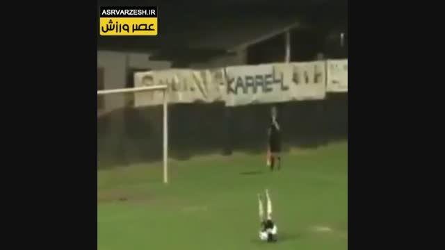 عجیبترین پنالتی که گل شد و دروازبان نفهمید