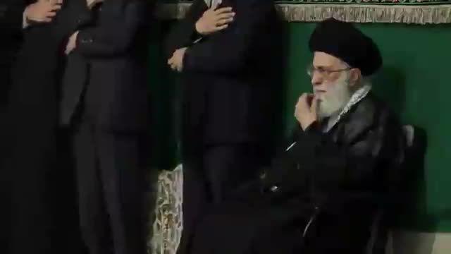 دکتر احمدی نژاد در کنار رهبری  شب تاسوعا 94/08/01