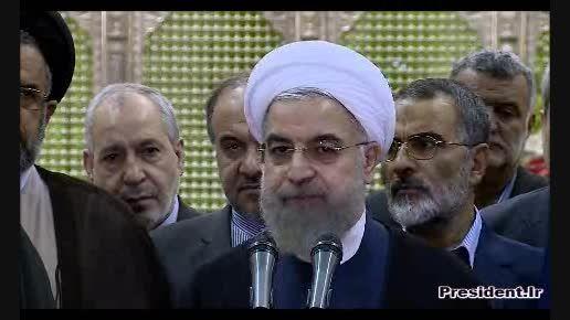 دکتر حسن روحانی در حرم مطهر امام خمینی