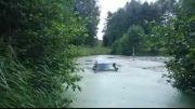 عبور از رودخانه بدون نیاز به پل