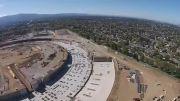 ساختمان جدید اپل به نام سفینه فضایی، در حال ساخت