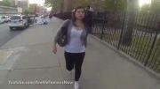 حجاب مانع آزار و اذیت یک زن توسط مردم آمریکا