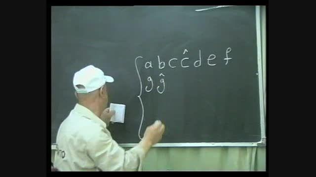 نوشتن همه حروف به ترتیب