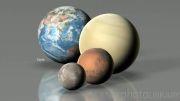 اندازه سیارات در مقایسه با خورشید و سایر ستارگان