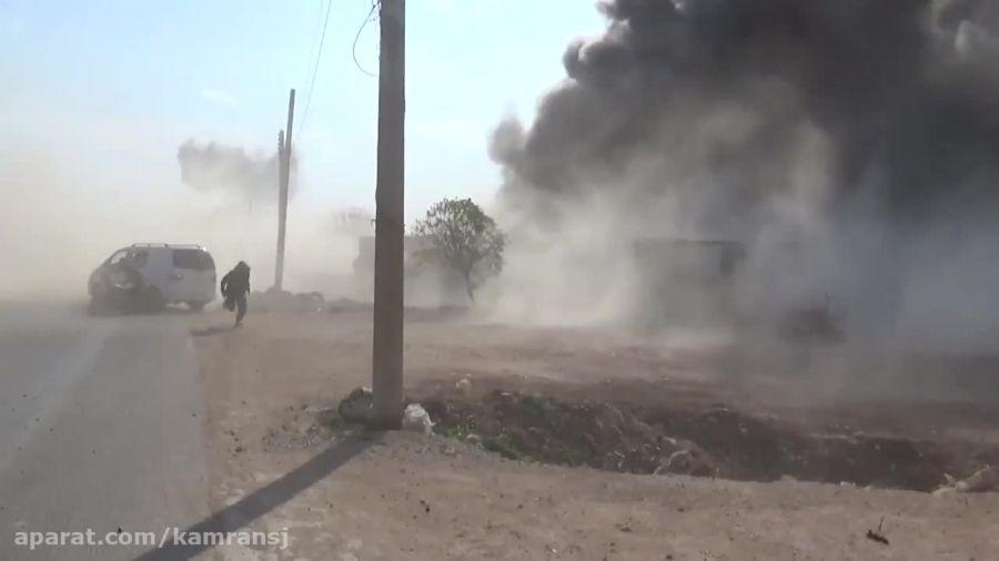 بمباران گذرگاه مرزی ترکیه - سوریه توسط جنگنده های روسی