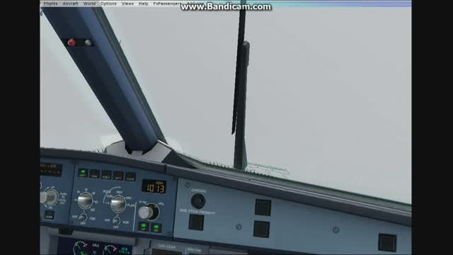 فرود ایرباس 320 در بدترین شرایط جوی