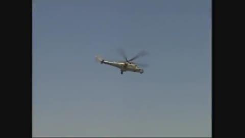 حمله بالگردهای Mil Mi 35 ارتش سوریه به داعش در دیرالزور