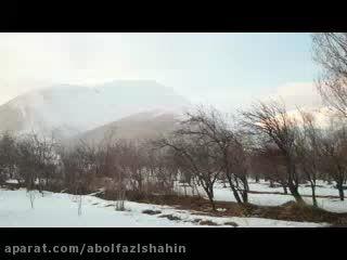مرند-طبیعت برفی وزمستانی روستای میاب