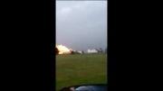 لحظه انفجار کارخانه سازنده کود شیمیایی در ایالت تگزاس آمریکا
