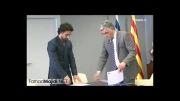 امضای قرارداد همکاری بین باشگاه اسپانیول و فرهاد مجیدی