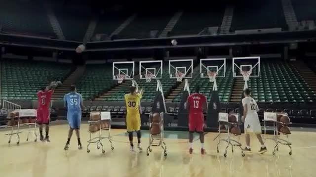 آهنگ با توپ و سبد بسکتبال -توسط بازیکنان NBA
