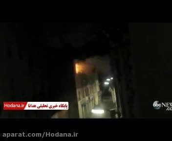 لحظه انفجار نخستین زن انتحاری اروپا