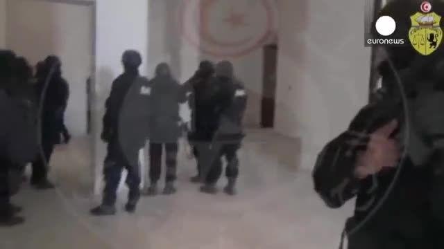 ویدیوی جدیدی از حمله پلیس تونس به مهاجمان موزه باردو