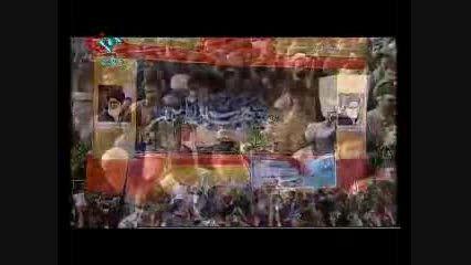 مداحی حاج محمود کریمی در مراسم تشییع پیکر شهدا