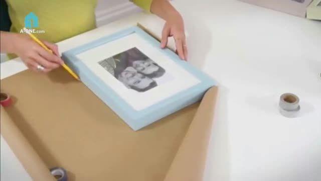 یک روش ساده برای چیدمان قاب عکس بر روی دیوار