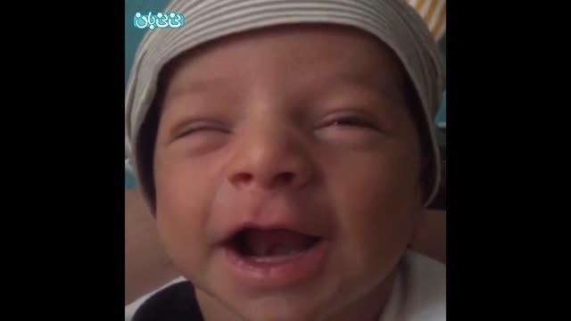 لبخند نوزاد 14روزه