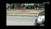 تصادف شدید به خاطر درگیری الکی
