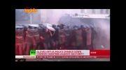 خشونت پلیس در رم!!! ایتالیا ایتالیا ایتالیا