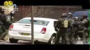 حمله پلیس به سمت ماشین فرد مظنون با گاز اشک