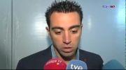 مصاحبه ی ژاوی و دنی الوز بعد از بازی میلان بارسا