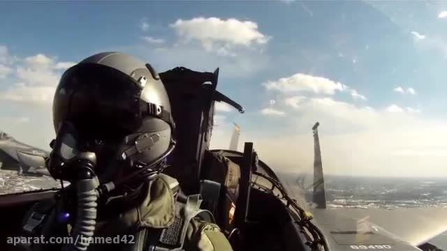 پرواز F-15 آمریکا برفراز پنتاگون