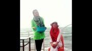 لیلا بلوکات در چالش سطل یخ