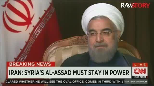 دکتر روحانی : اسد باید در قدرت بماند
