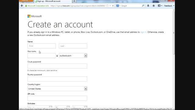 آموزش ساخت حساب کاربری و ایمیل ماکروسافت
