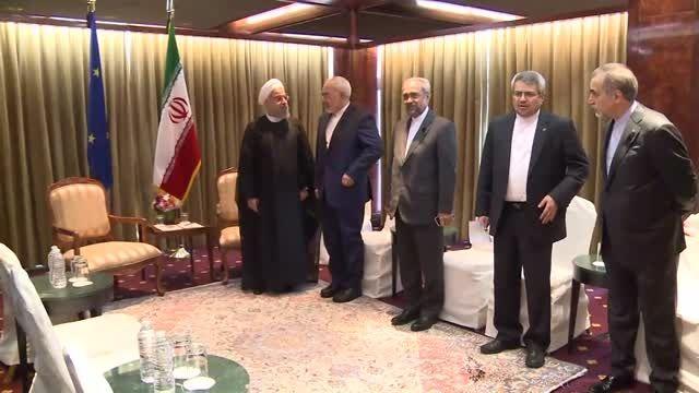 دیدار دکتر روحانی با دونالد تاسک و فدریکا موگرینی