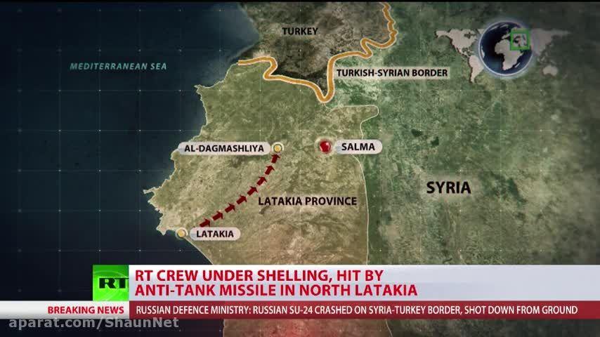ساقط کردن جنگنده سوخو24 روسیه توسط اف 16 های ترکیه