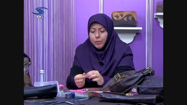 آموزش کیف پول دخترانه مدل 1 همراه با یک نوع دستبند
