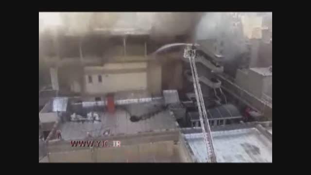 آتش سوزی تالار اصلی وزارت کشور